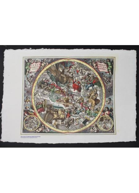 Harti celeste imprimate pe hartie manuala (format A4)